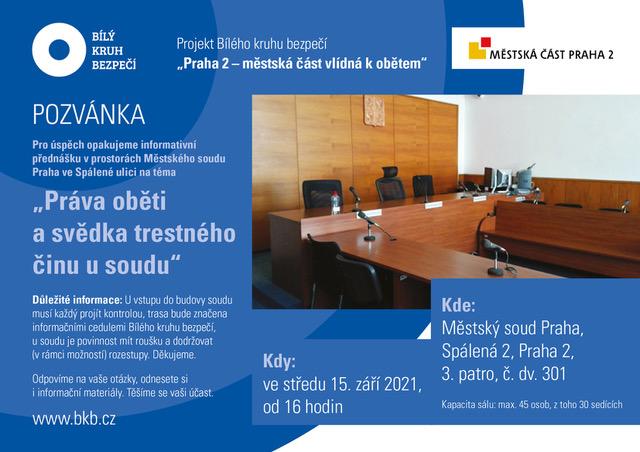 Pozvánka na přednášku u MS v Praze